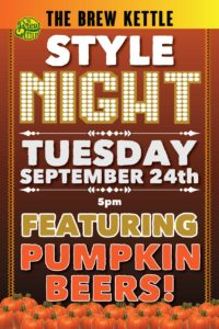 Style Night September 2019 - Pumpkin Beers