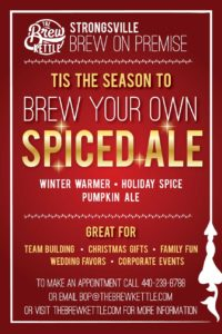 Tis the season to Brew Your own Spiced Ale!