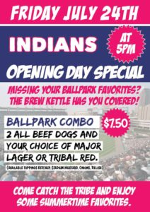 Indians Home Opener Opening Day