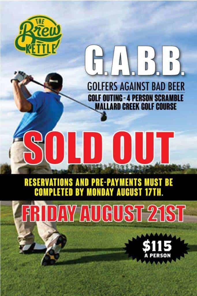 Golfers Against Bad Beer 2020